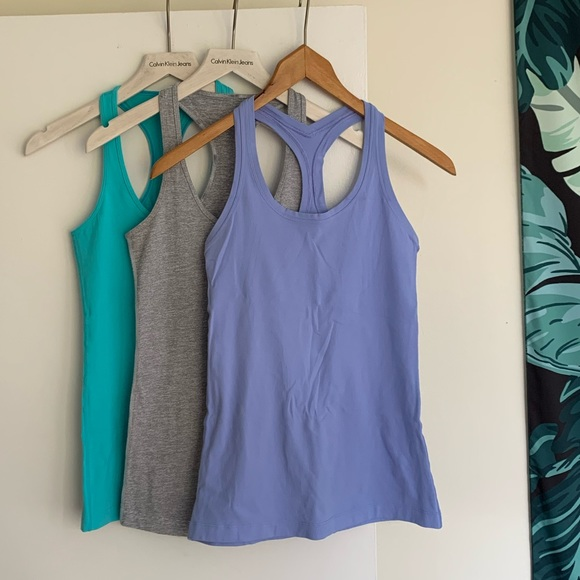 3 lululemon Cool Racerbacks, Size 6